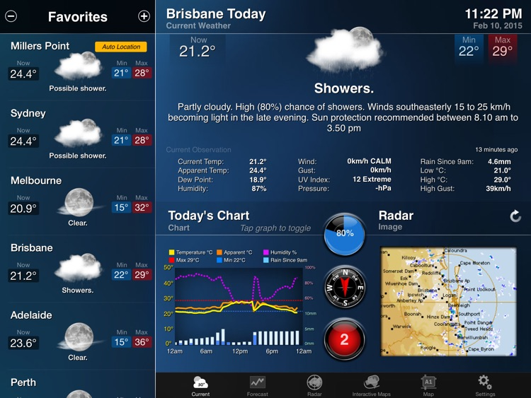 AUS Weather for iPad HD screenshot-0