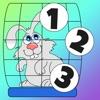 活躍! 子供のためのゲームは、ペットとの1-10をカウントすることを学ぶ