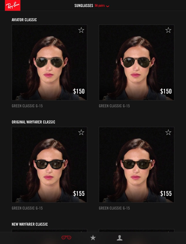 4c465de09e  Ray-Ban Virtual Try-On on the App Store