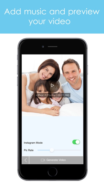 PicsVideo Slideshow of photos, text and music and post to Instagram screenshot-3