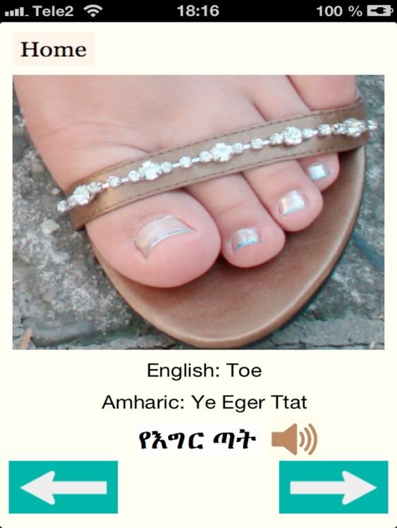 Human Bodyparts in Amharic