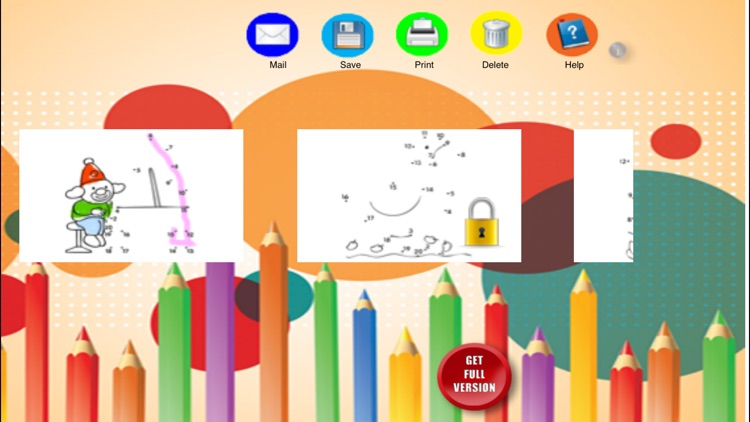 Drawing by numbers (points) for children