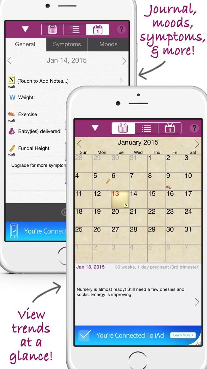 iPregnant Pregnancy Tracker Free (iPeriod's Pregnancy Companion) Screenshot