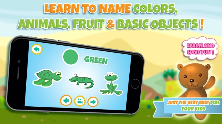 Learn colors - Educational game for toddler kids & preschool children