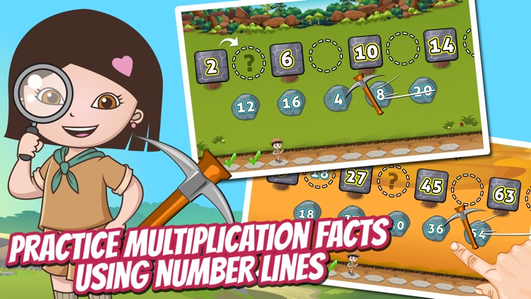 Treasure Dash Math Lite: Fun Multiplication Games for Kids screenshot-3