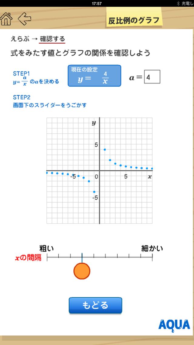 反比例のグラフ さわってうごく数学「AQUAアクア」のおすすめ画像2