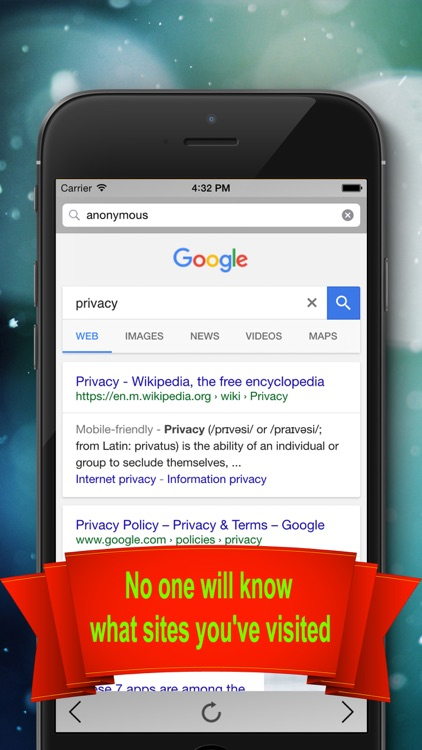 Private Browser - Private & Anonymous web browser screenshot-4