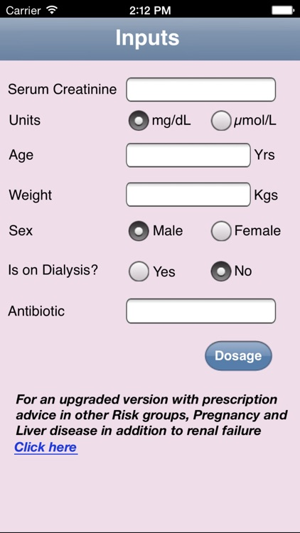 Antibiotic Dosage Calculator