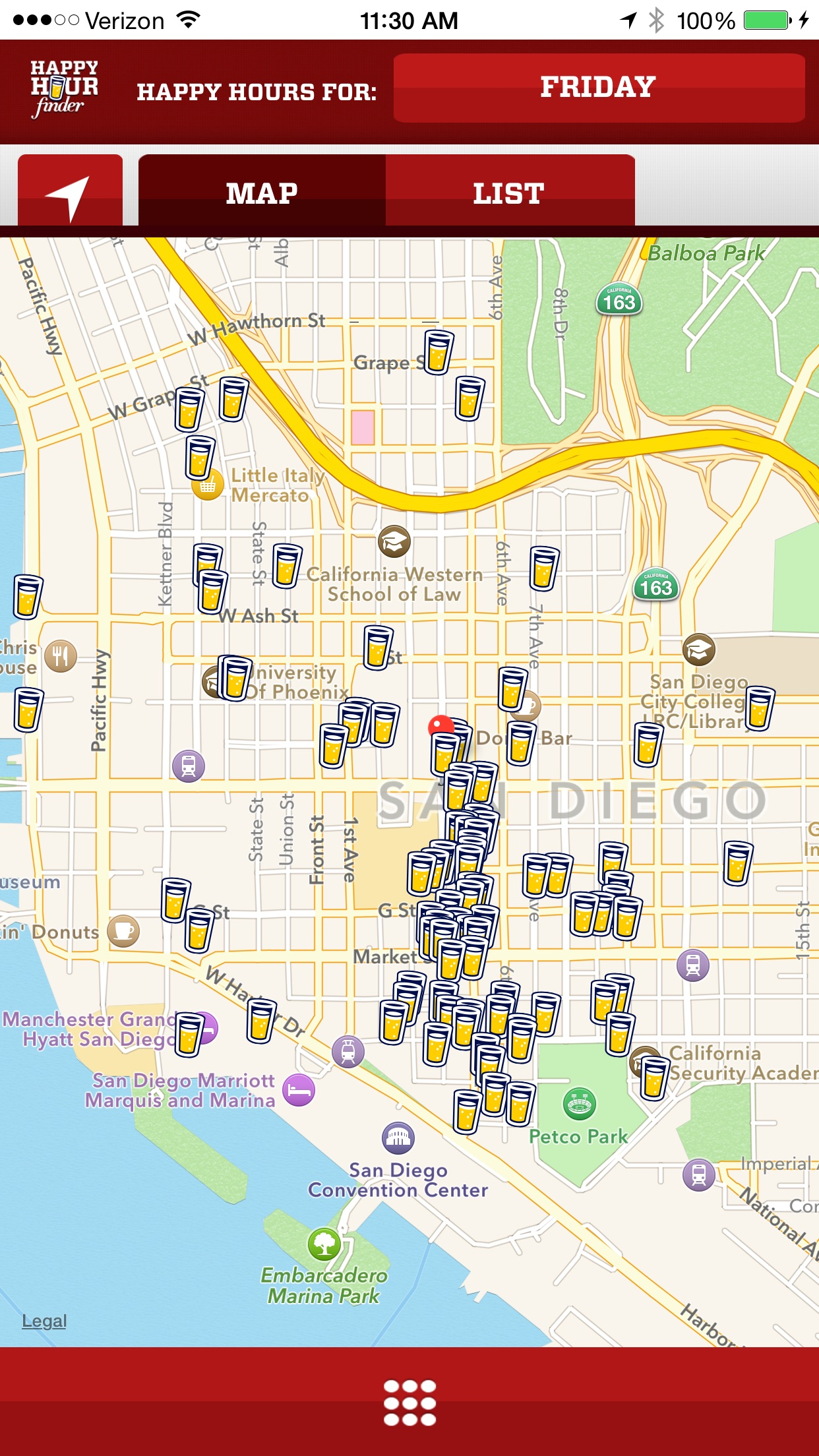Happy Hour Finder - Find Local Food and Drink Deals Screenshot