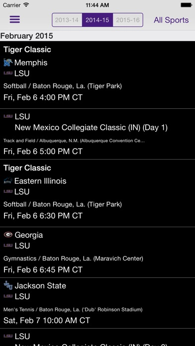 LSU Sports Mobile iPhone