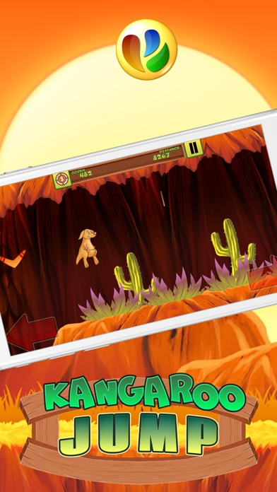 Kangaroo Jump and Run Spiel - Kangaroo Jump and Run GameScreenshot von 2