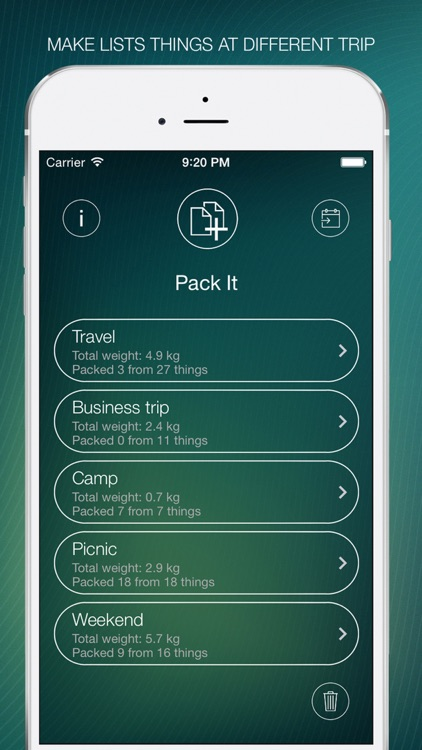 Pack It - The list of required documents and things to the trip