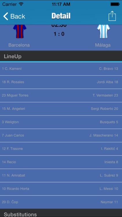 Spanish Football league 2015/16 Odds,Fixtures & Results screenshot-3