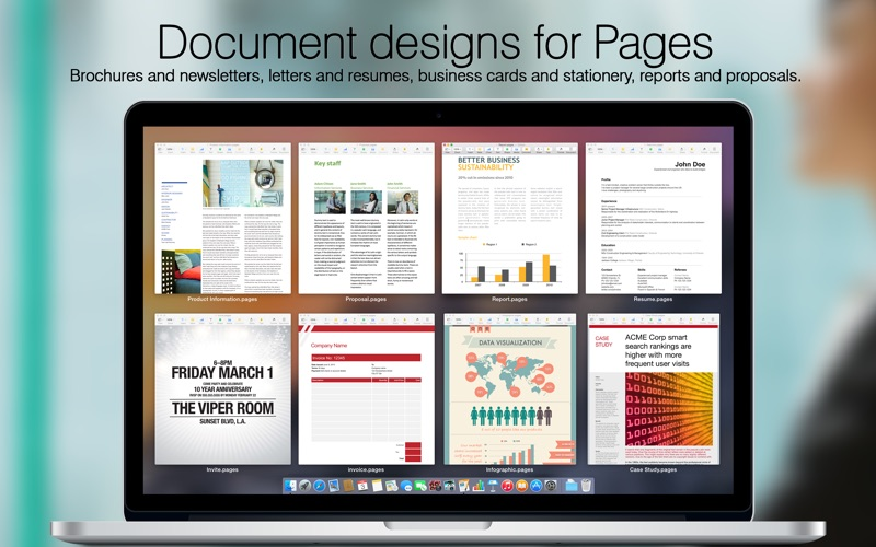 Megapack for iWork 2015: Keynote Numbers Pages Templates | App Price ...