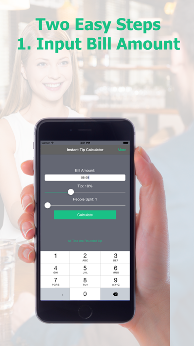 Instant Tip Calculator - Quickly Generate Gratuity screenshot two