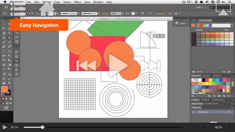 AV for Illustrator CS6 - Illustrator Basics - Create A Logo screenshot-4