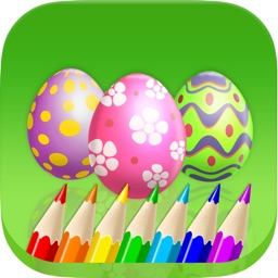 A Easter Coloring Book for Toddlers: Learn to Color Egg and Bunny