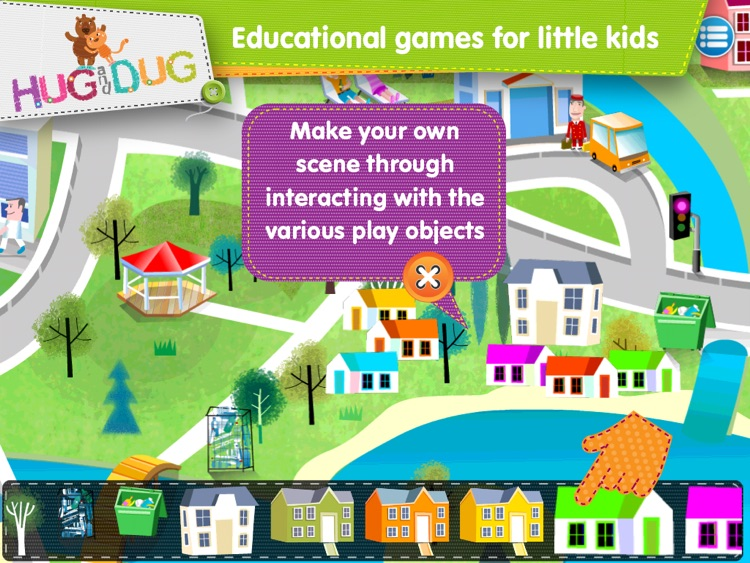Little Town Explorer -  HugDug educational activity game for little kids. screenshot-3