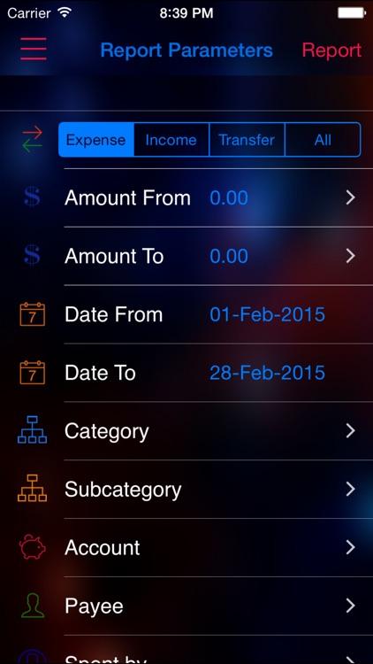 Expense Nova 2.0 : Home Budget and Account Manager and Personal Expense Tracker screenshot-4