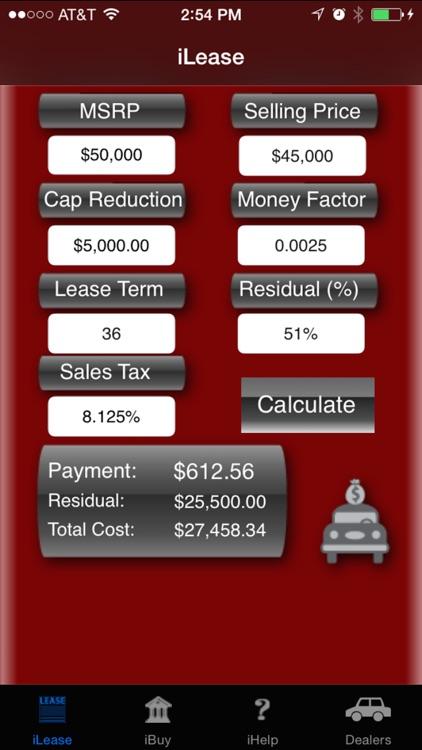 iLeaseMyCar Loan and Lease Payment Calculator