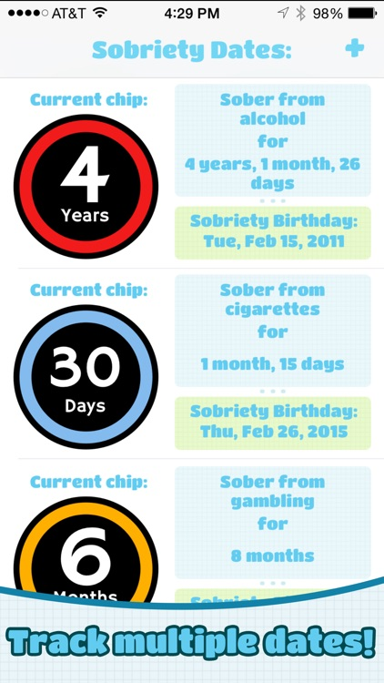Chipper: Sobriety & Recovery Dates Tracker