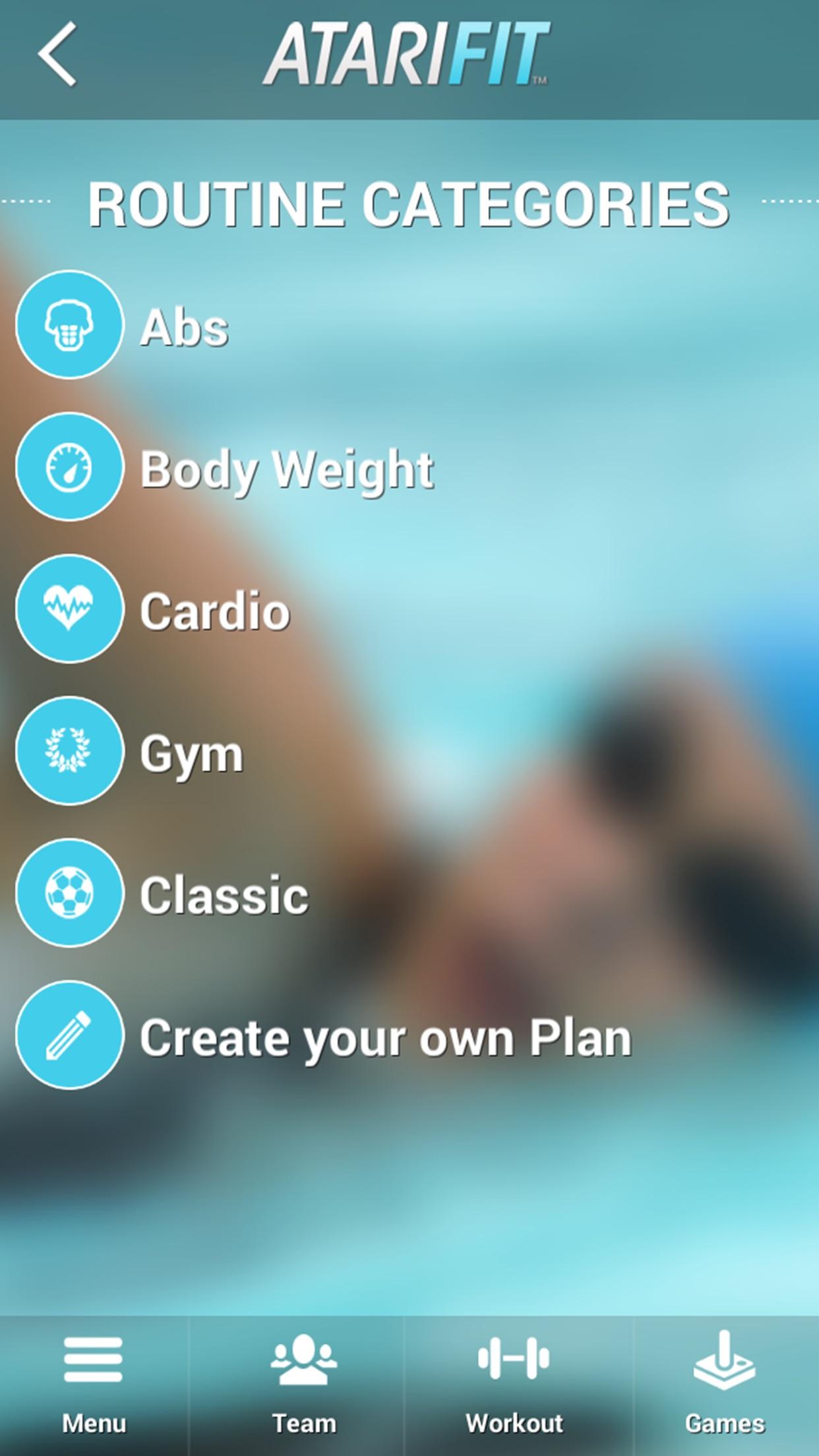 Screenshot do app Atari Fit™