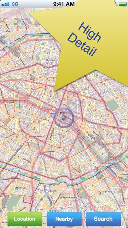Paris No.1 Offline Map
