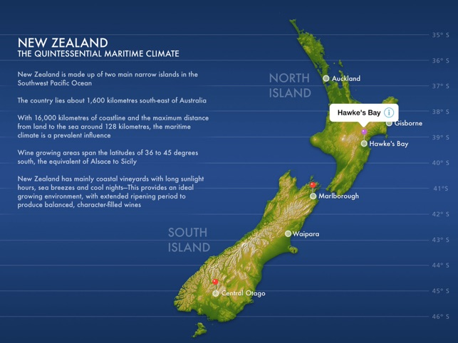 New Zealand Interactive Map.Nz Wine On The App Store