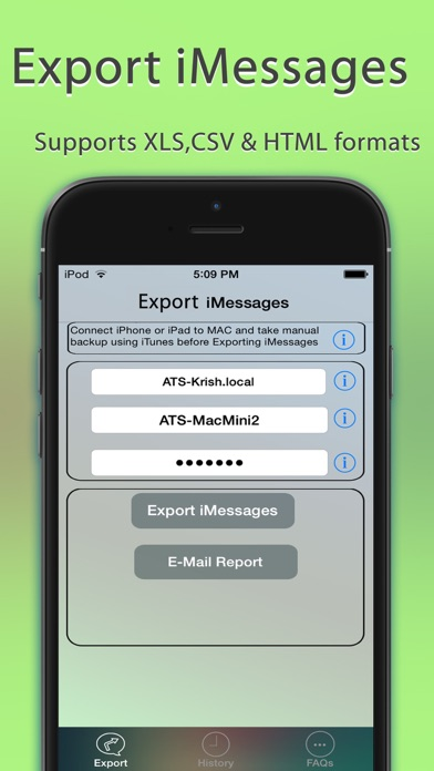Export Messages - Save Print Backup Recover Text SMS iMessages app image