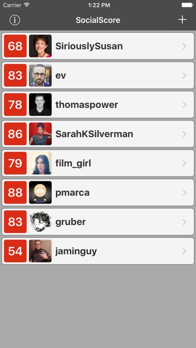 download SocialScore for Klout apps 0
