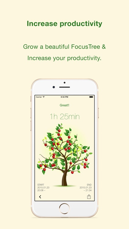 FocusTree: Focus on your work, growing a tree.