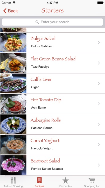 Turkish Cooking App