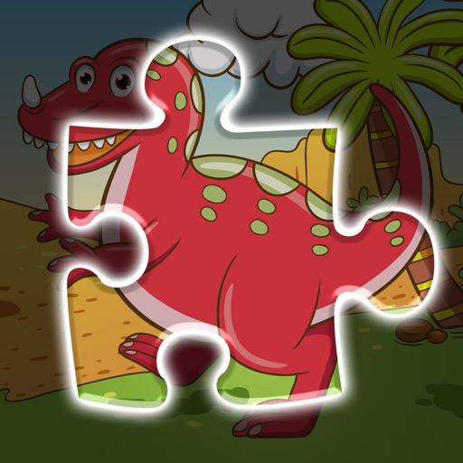 A funny Dinosaur Puzzle Game
