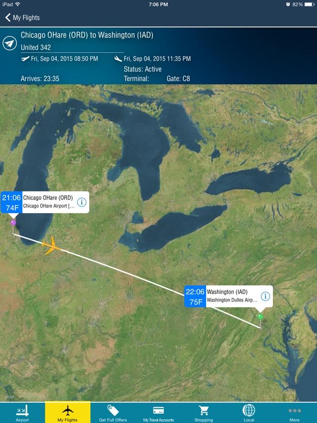 Washington Dulles Airport IADBWIDCA Flight Tracker