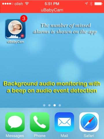 uBabyCam with AV recording screenshot