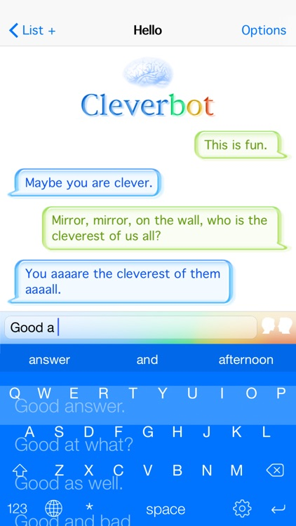 Cleverbot screenshot-1