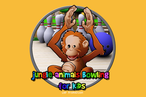 jungle animals and bowling for kids - no ads screenshot 1