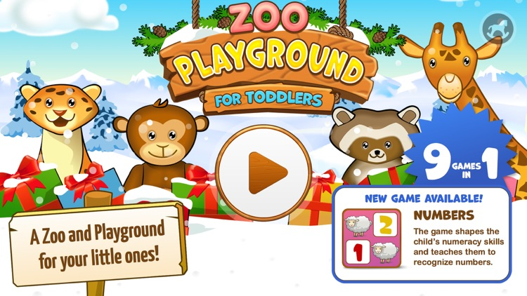 Zoo Playground - Educational games with animated animals for kids screenshot-0
