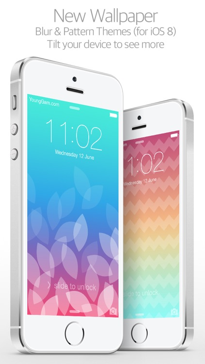 New Wallpaper Pro : for iOS7 & Parallax ( Blur & Pattern Custom themes : by YoungGam.com )