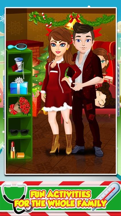 Mommy's Christmas Baby Doctor Salon - My Santa Spa Make-Up Games! screenshot-3