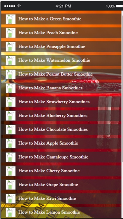 Smoothie Recipes - Learn How to Make a Smoothie Easily screenshot-3