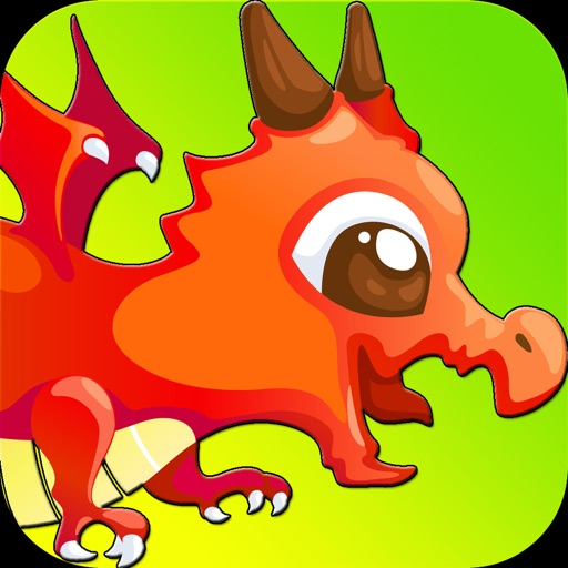 Flappy Flying Dragon : Train and Free the cute beast from fire iOS App