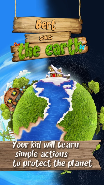 Nature : Bert Save the Earth,  The story app for boys and girls to learn simple actions to protect the planet screenshot-0