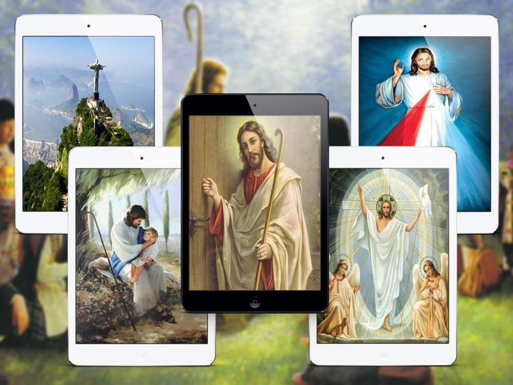 Great Wallpapers for Jesus Christ - iPad Version screenshot-3