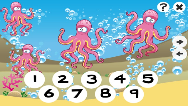 123 Counting Games For Kids With Open Sea animals Screenshot