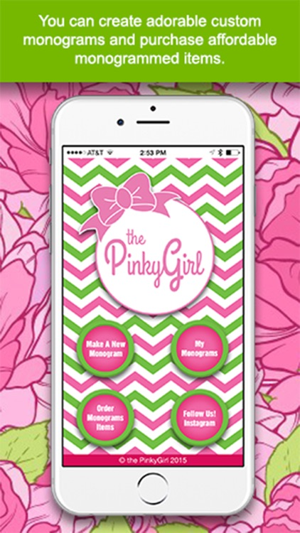 The PinkyGirl Monogram Maker And Text App screenshot-0