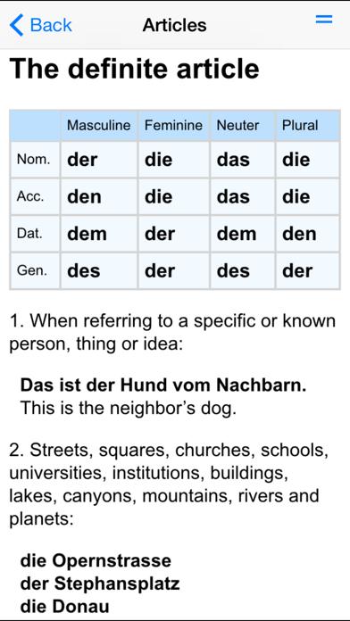 German Grammar review screenshots