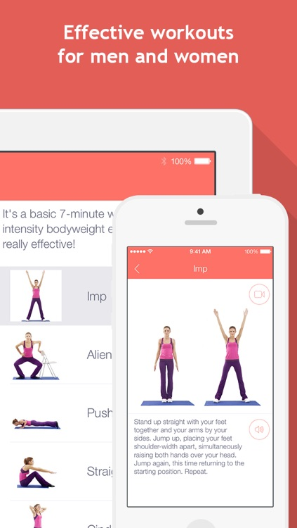 7 minute workouts: bodyweight training & high intensity exercises