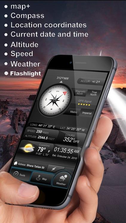 Weather Compass Gps+ (Map, Speedometer, Altimeter)
