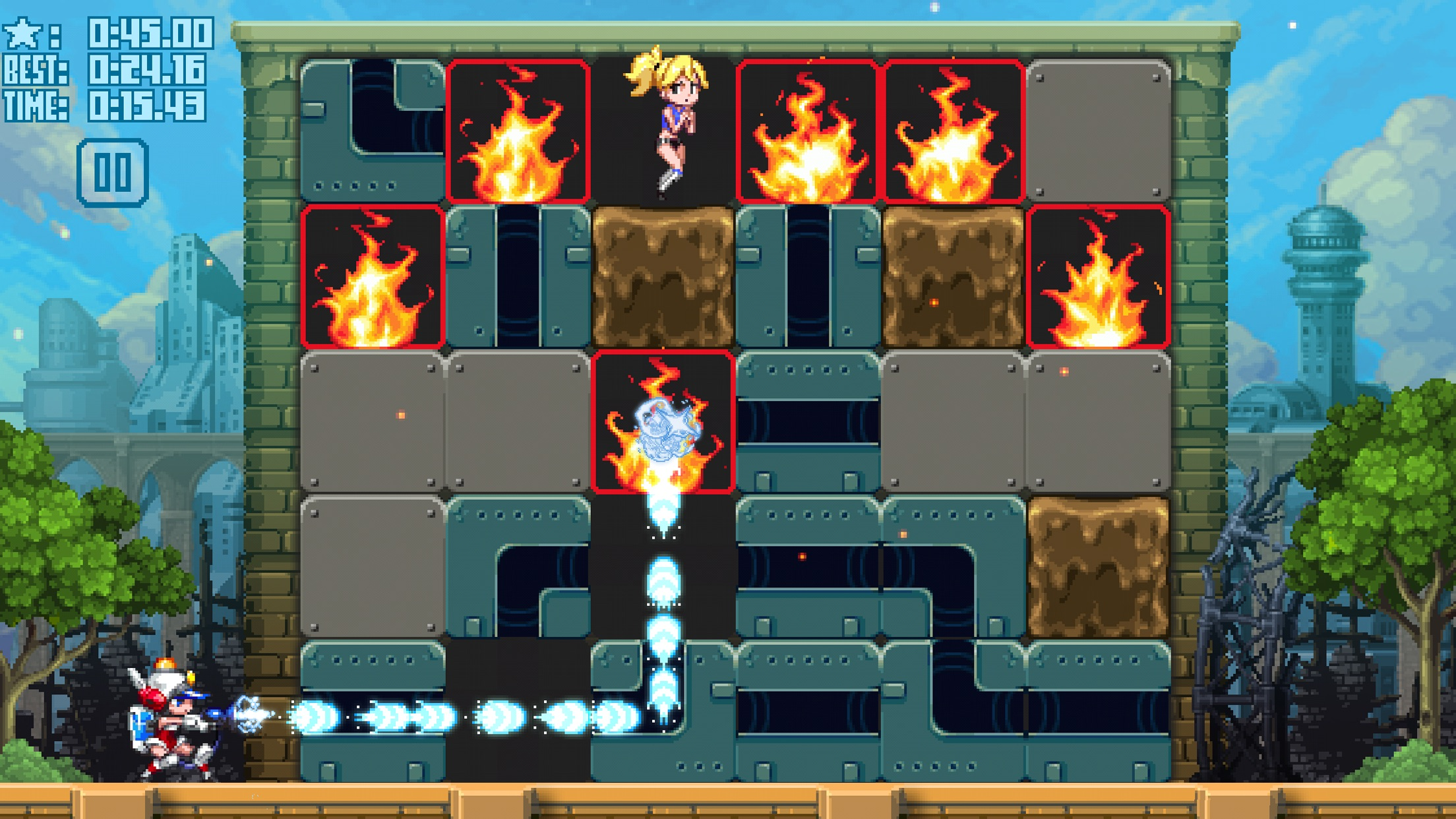 Screenshot do app Mighty Switch Force! Hose It Down!